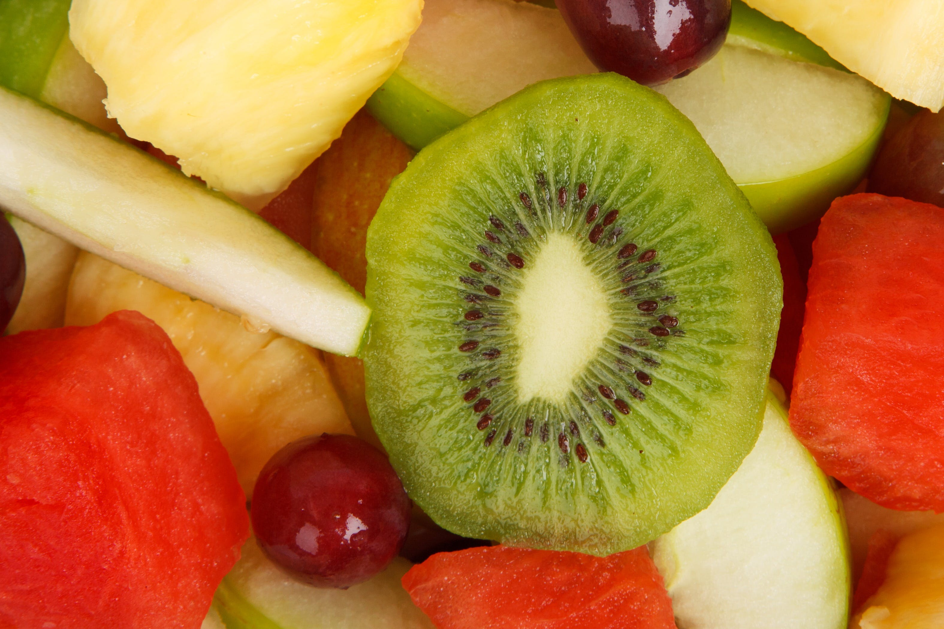 Sliced Green Kiwi
