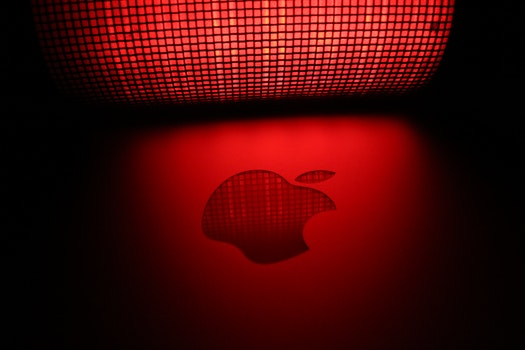 Free stock photo of red, lights, apple, dark