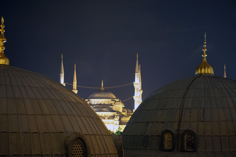 คลังภาพถ่ายฟรี ของ aya sofya, sultanahmet, กลางคืน, มัสยิด