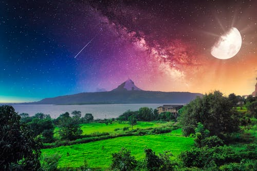 Free stock photo of composite, Composite photograph, lonavla, moon