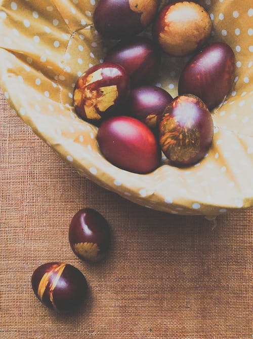 Free stock photo of basket, easter decorations, easter eggs, warm colors