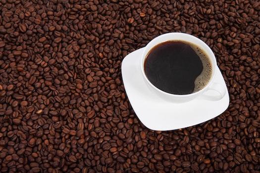 White Ceramic Mu Fill of Coffee