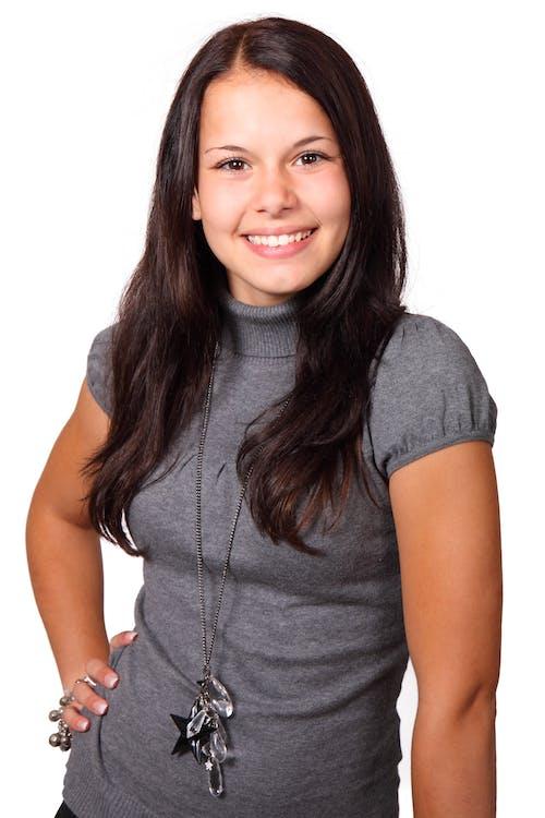 Woman in Gray Turtleneck Shirt Portrait