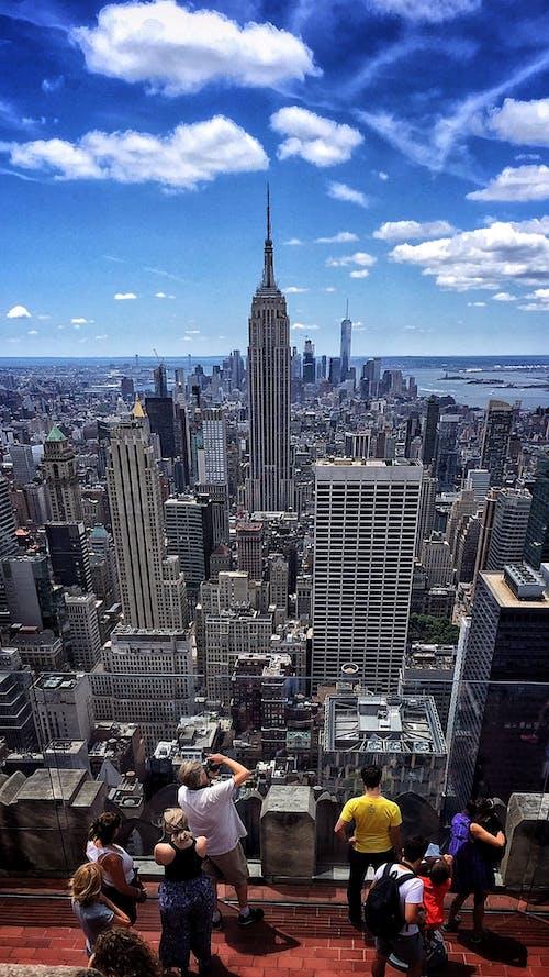 Kostnadsfri bild av blå himmel, byggnad, destination, Empire State Building