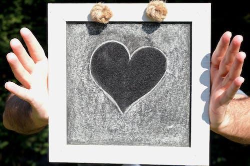 Free stock photo of amitié, amour, en forme de coeur