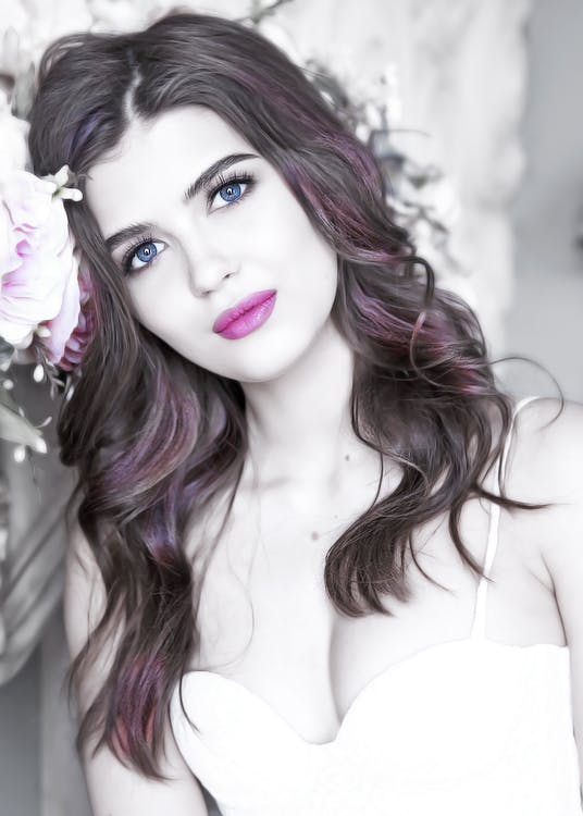 attraktiv, blomst, brudepige