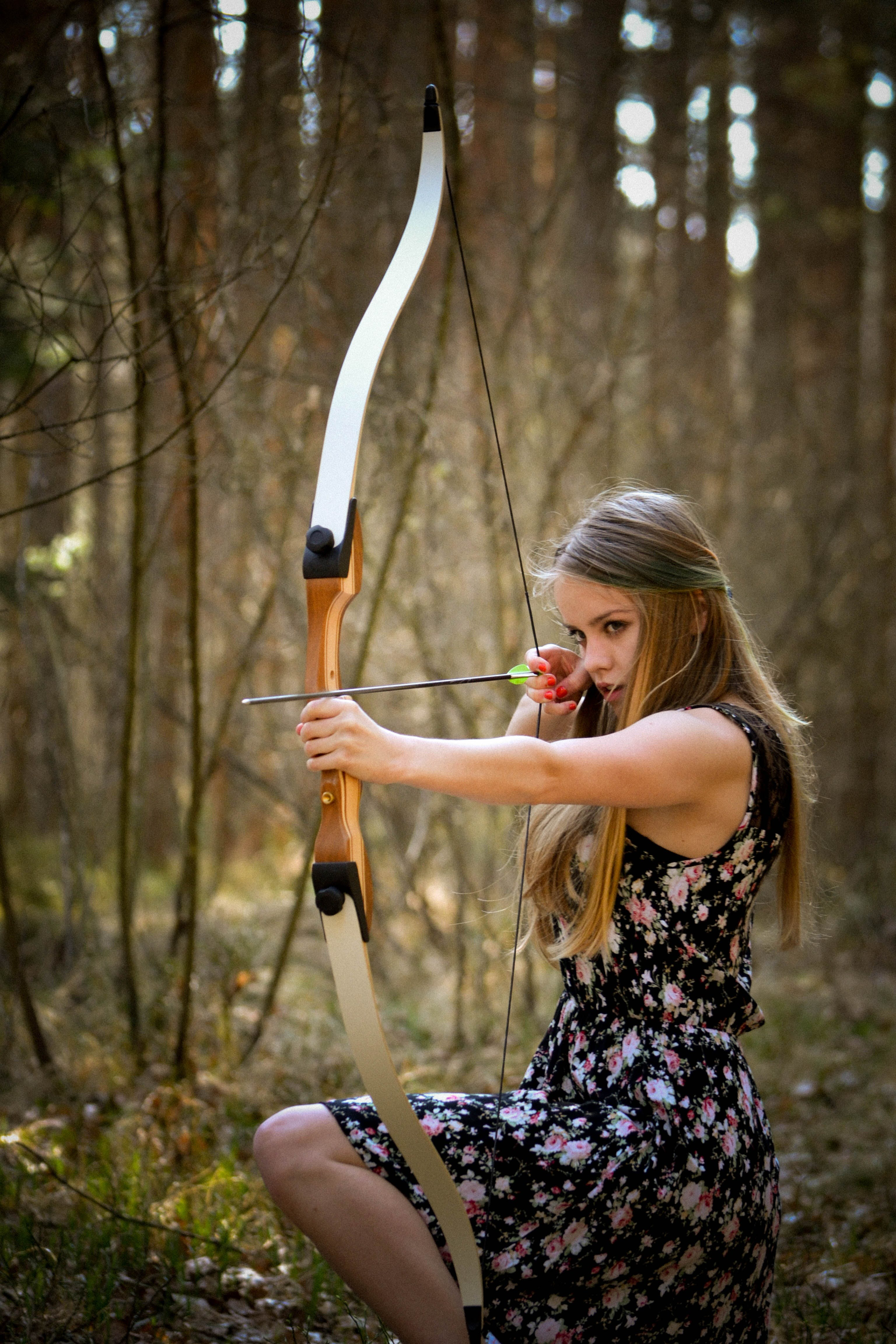 Woman Aiming Bow · Free Stock Photo