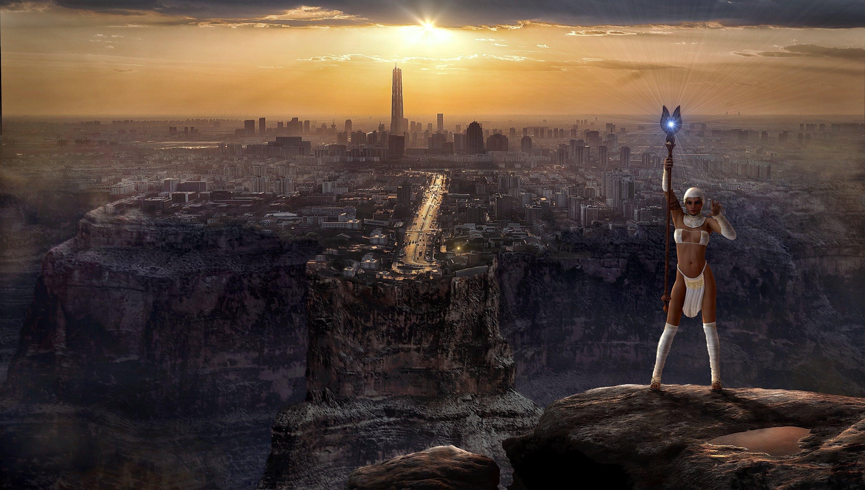 Free stock photo of light, city, landscape, person