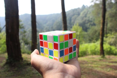 Free stock photo of nature photography, rubik's cube