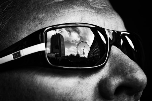 Free stock photo of black-and-white, man, person, sunglasses