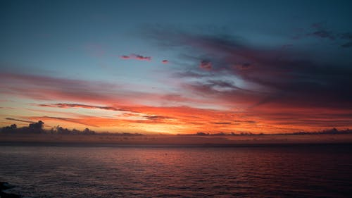 Free stock photo of oceanwaves, sky, sunsrise