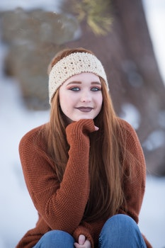 Free stock photo of snow, people, woman, girl