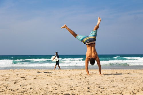 Man Doing Hand Stand