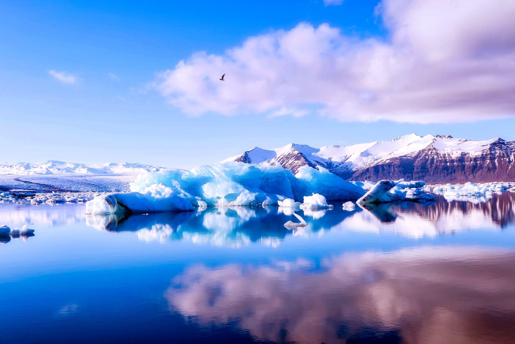 bulutlar, buz, buz dağları, buz tutmuş içeren Ücretsiz stok fotoğraf