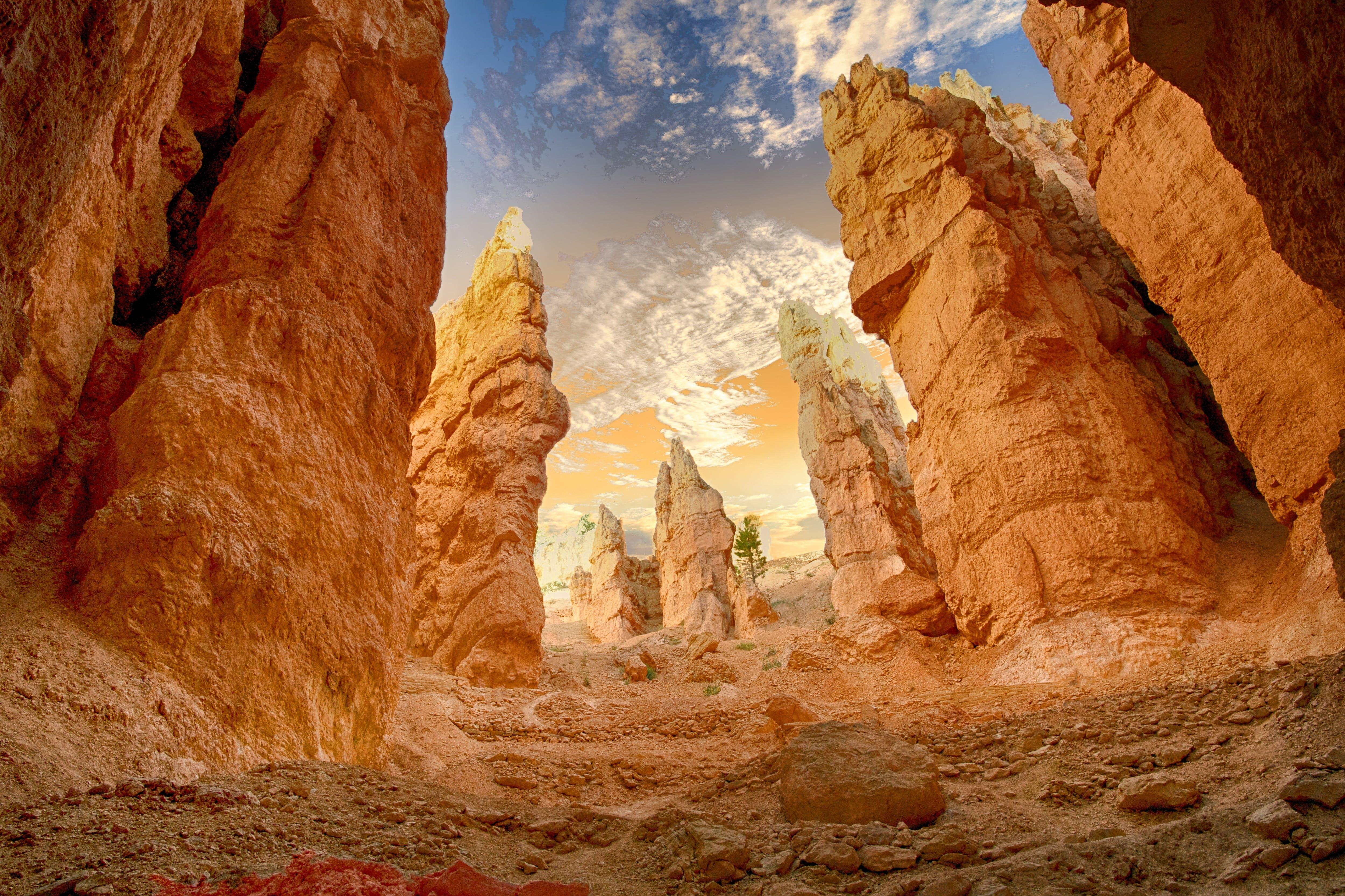 Kostenloses Stock Foto zu canyon, draußen, erosion, felsen