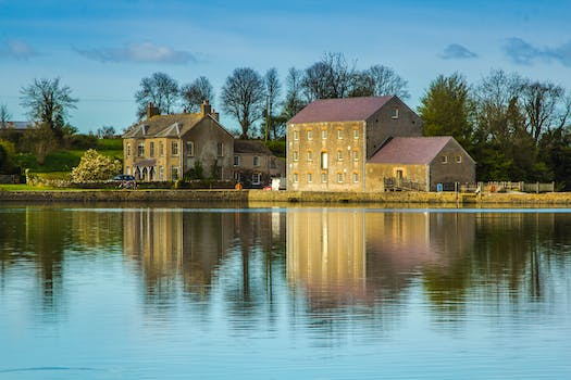 Free stock photo of landscape, sky, houses, water