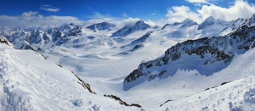bulutlar, buz, dağ silsilesi, doğa içeren Ücretsiz stok fotoğraf