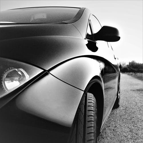 Free stock photo of b&w, black car, car