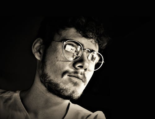 Free stock photo of at home, b&w, evening, glasses