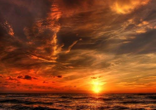 คลังภาพถ่ายฟรี ของ HDR, คลื่น, ช่วงแสงสีทอง, ชายทะเล