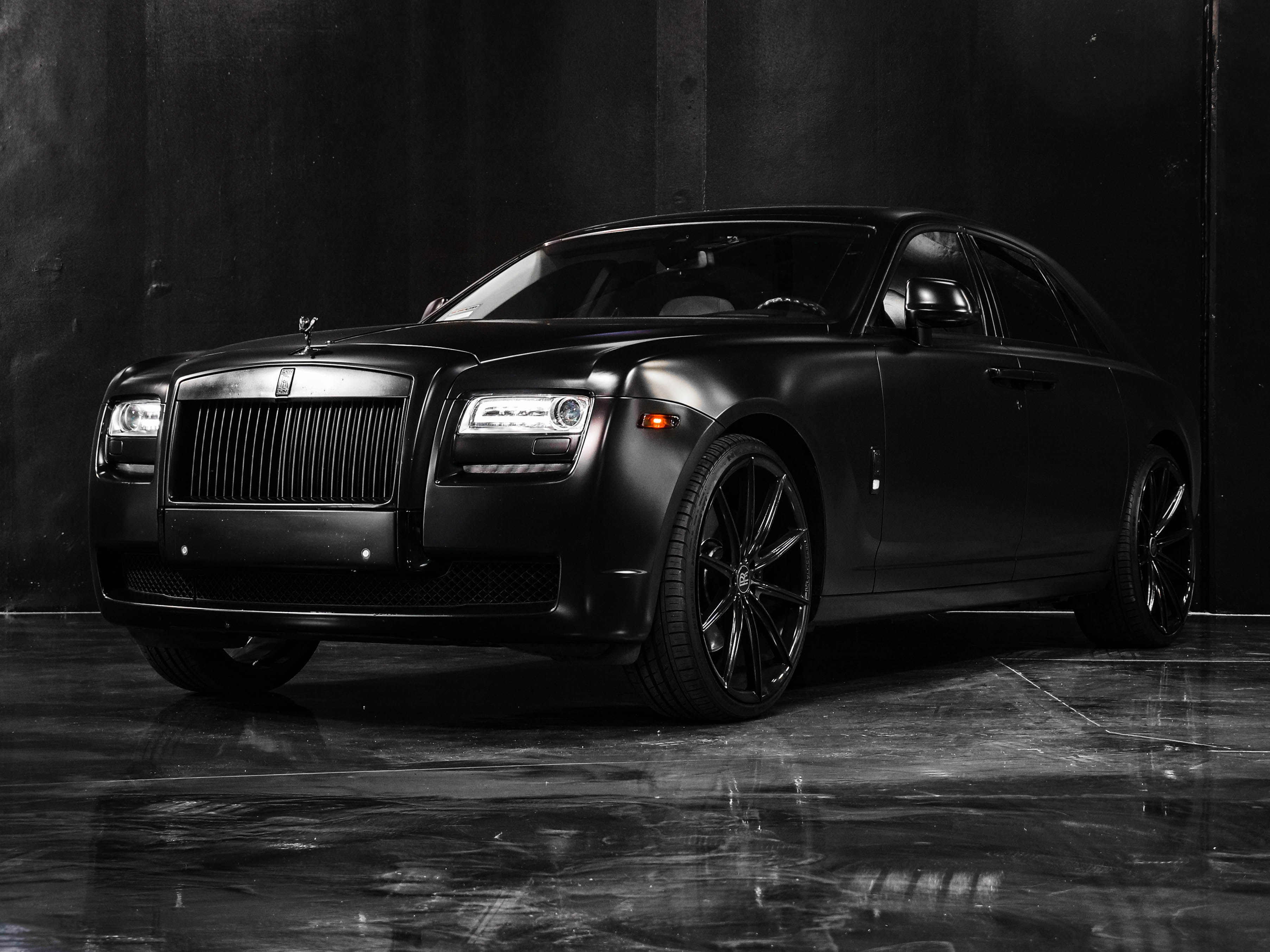 Luxury Matte Black Car Free Stock Photo