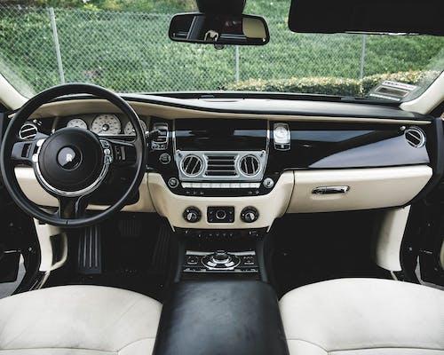 Stylish interior of expensive modern car