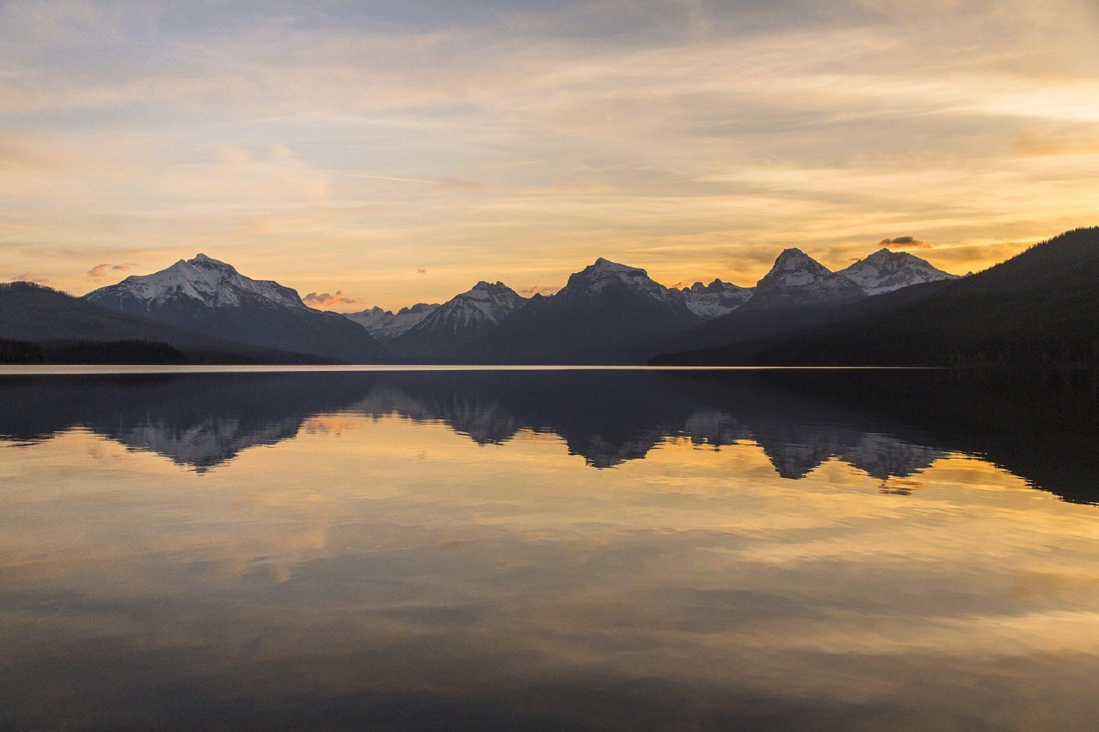 Free stock photo of glacier, landscape, water, sunrise