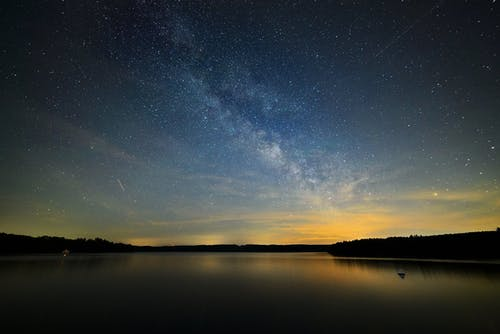 Milky Way and Body of Water Wallpaper