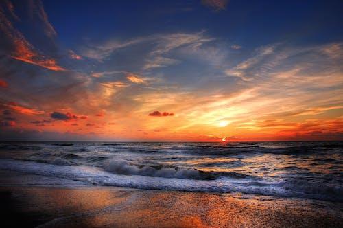 Základová fotografie zdarma na téma krajina, mávání, modrá obloha, moře