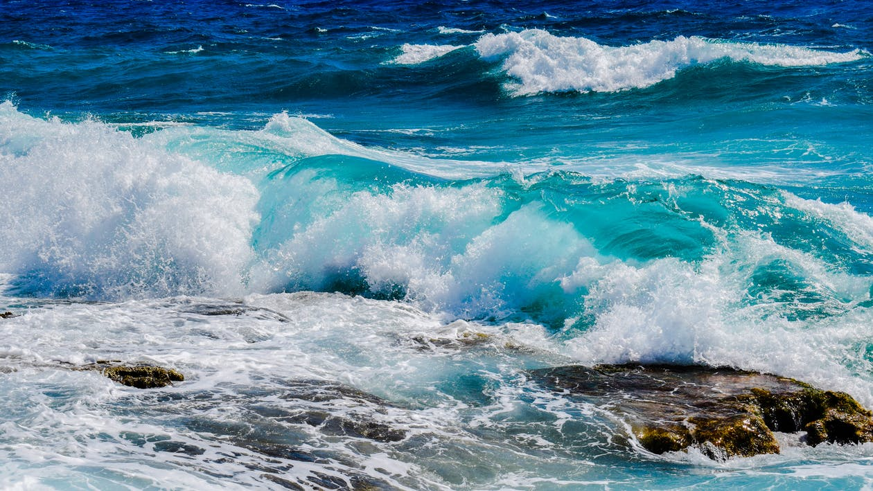 blå, hav, havsområde