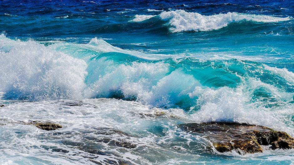 beach, blue, motion