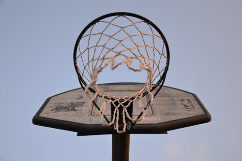Low-angle Photography of Brown and Black Basketball Hoop