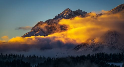 Landscape Photography of Mountain during Golden Hour