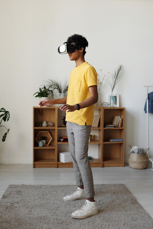 Photo of Boy Using Vr Headset