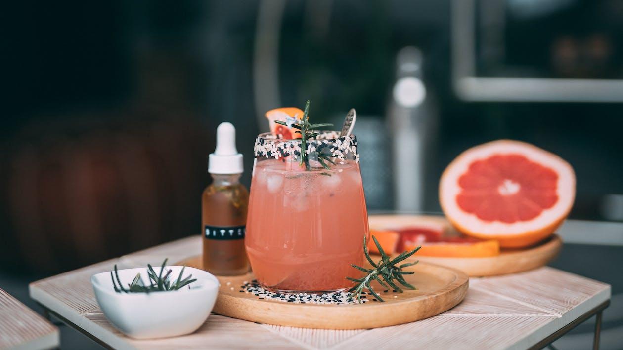 Pomelo Juice in Clear Glass Jar