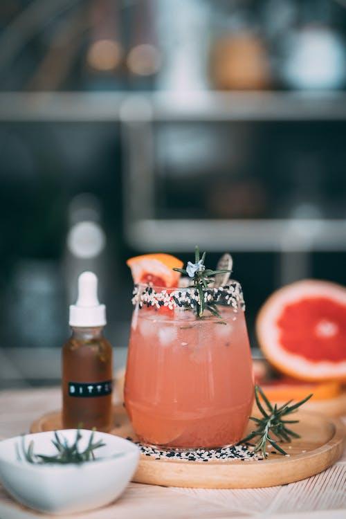 Pomelo Juice in Clear Glass
