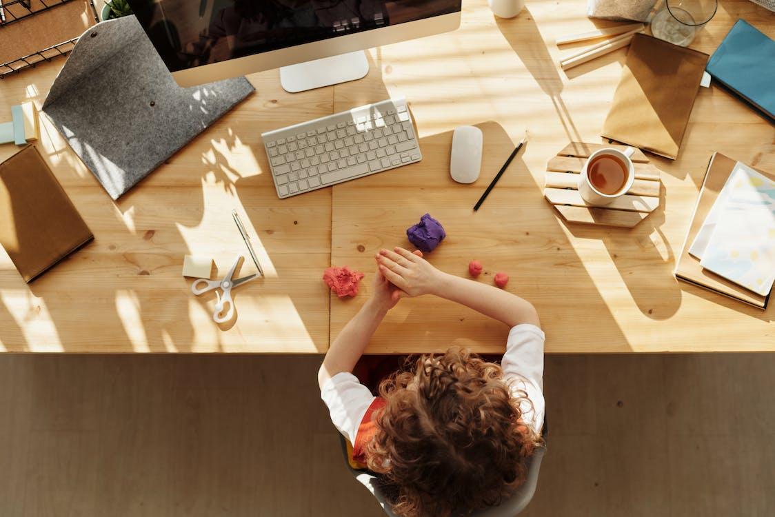 Základová fotografie zdarma na téma dálkové studium, dítě, doma
