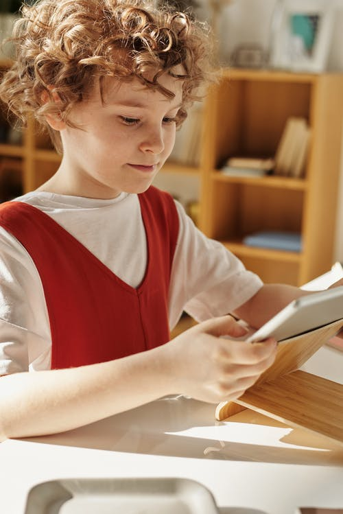 Child Using Tablet Computer