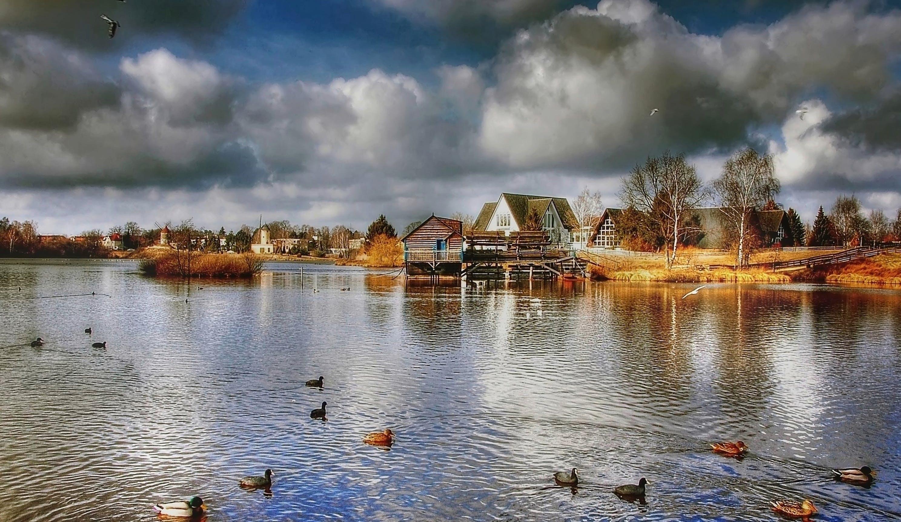 Kostenloses Stock Foto zu landschaft, natur, himmel, häuser