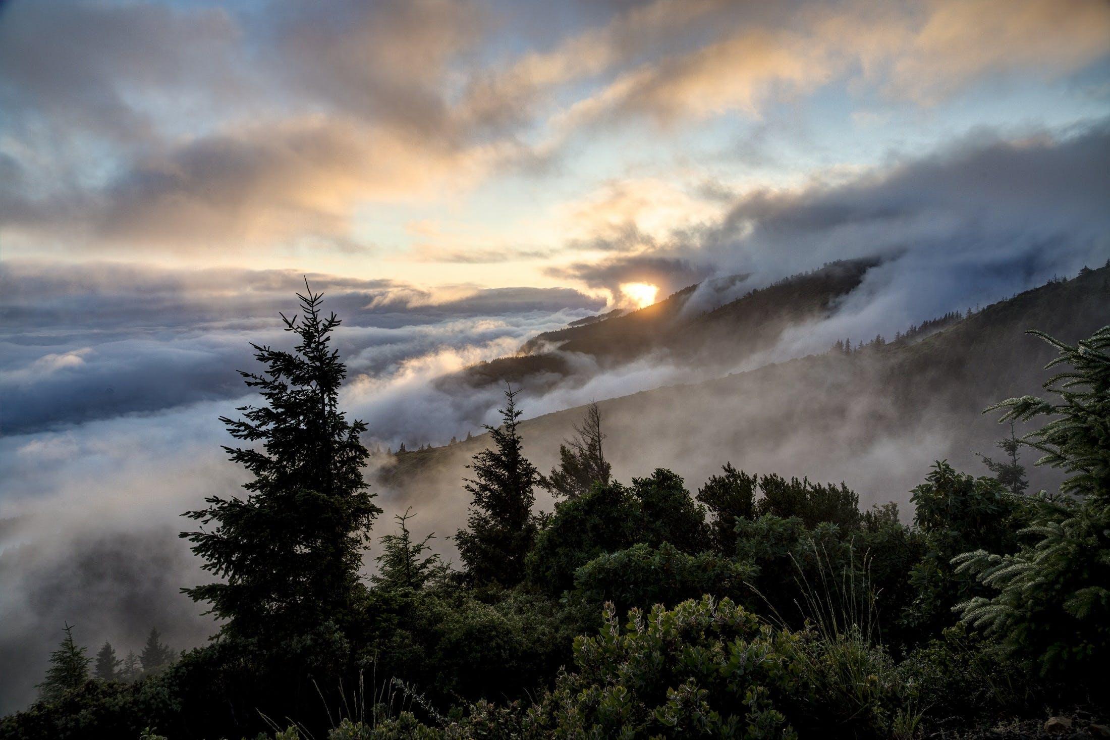 california, clouds, dawn