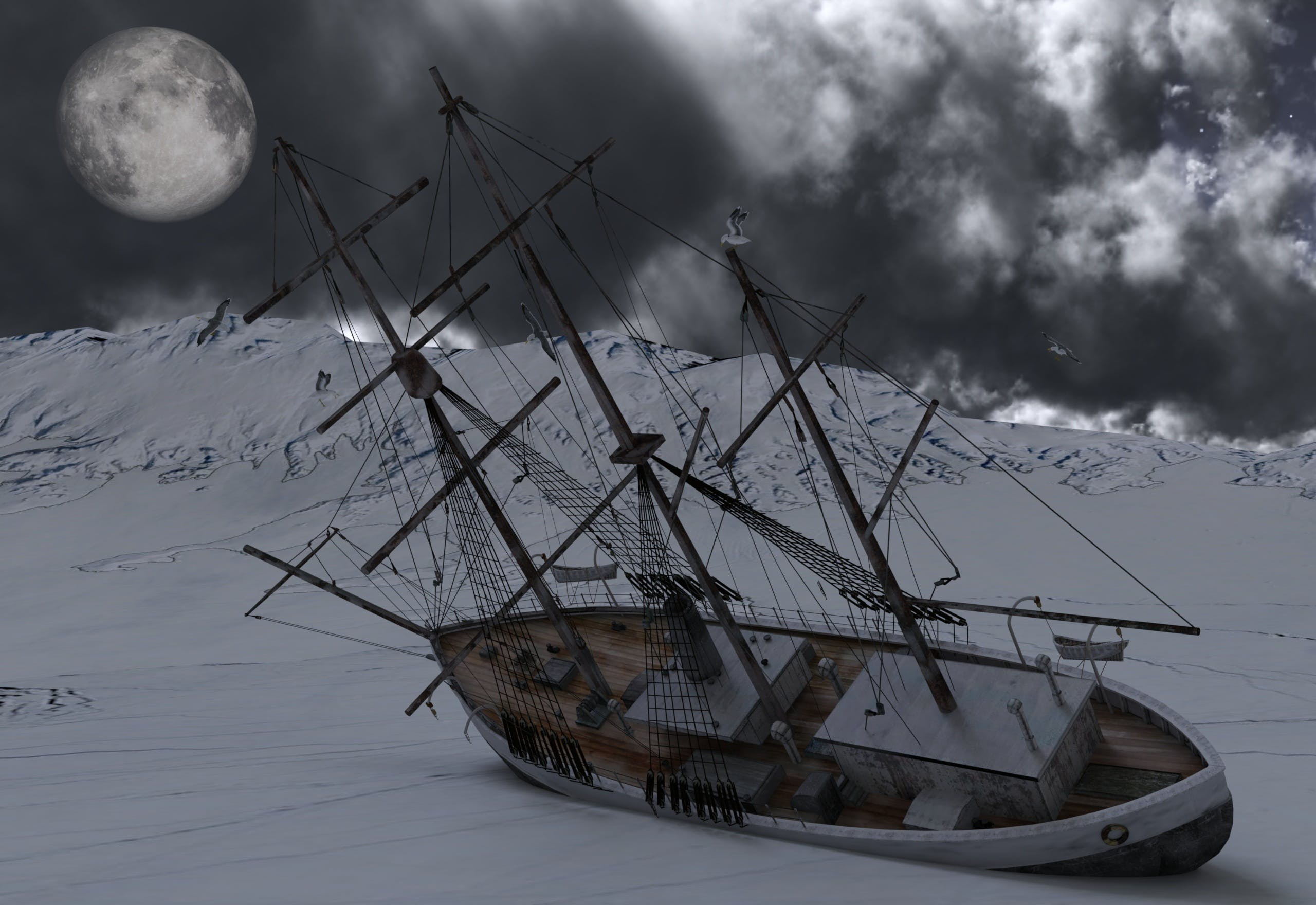 Free stock photo of cold, ship, ice, wreck