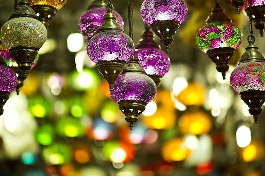 Desktop background of light, art, creative, purple