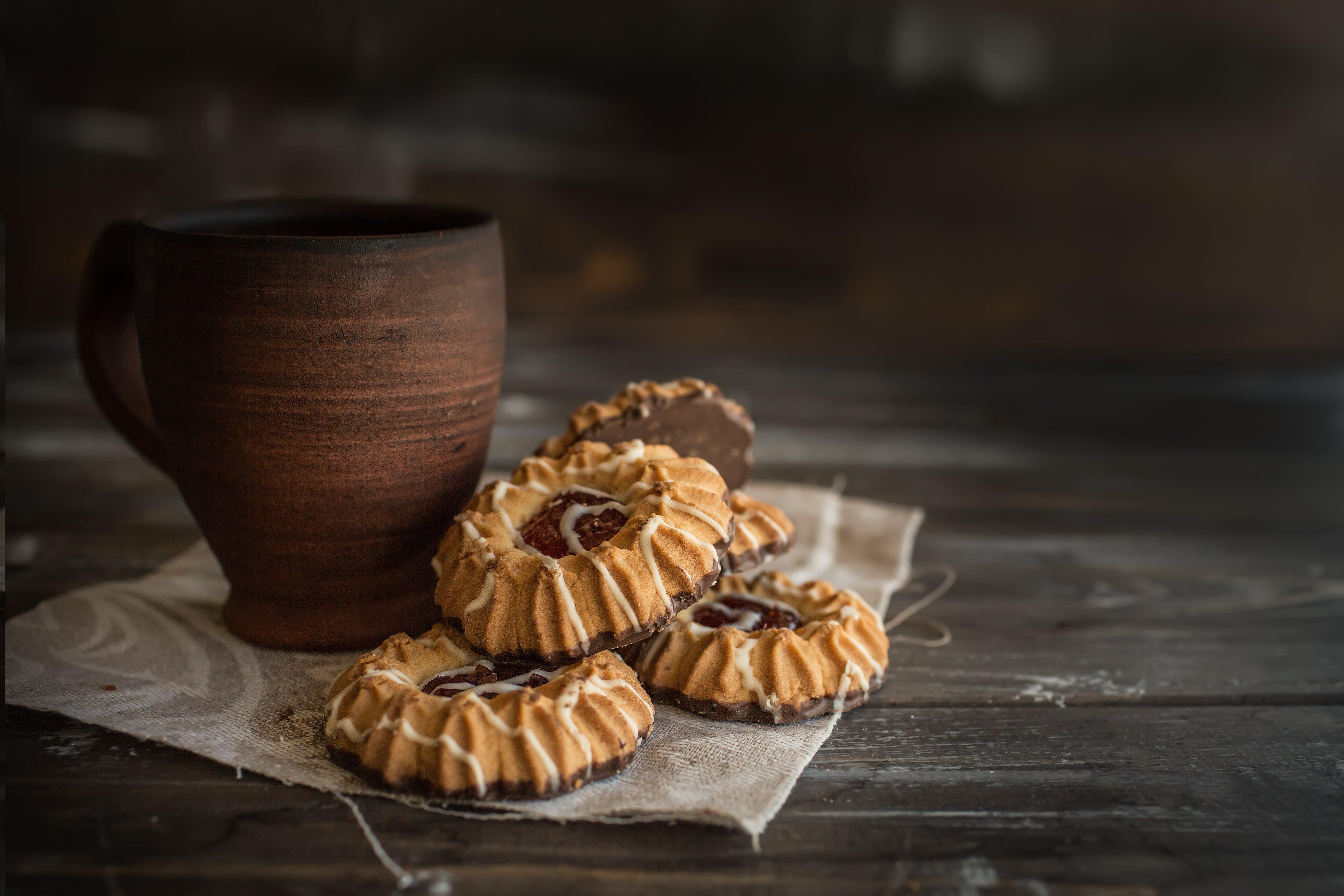 Brown Mug and Cookies
