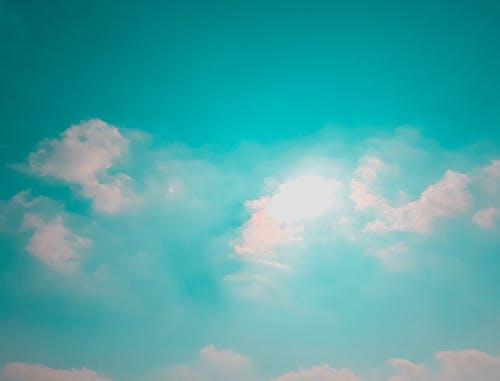 Foto stok gratis awan, biru, cyan