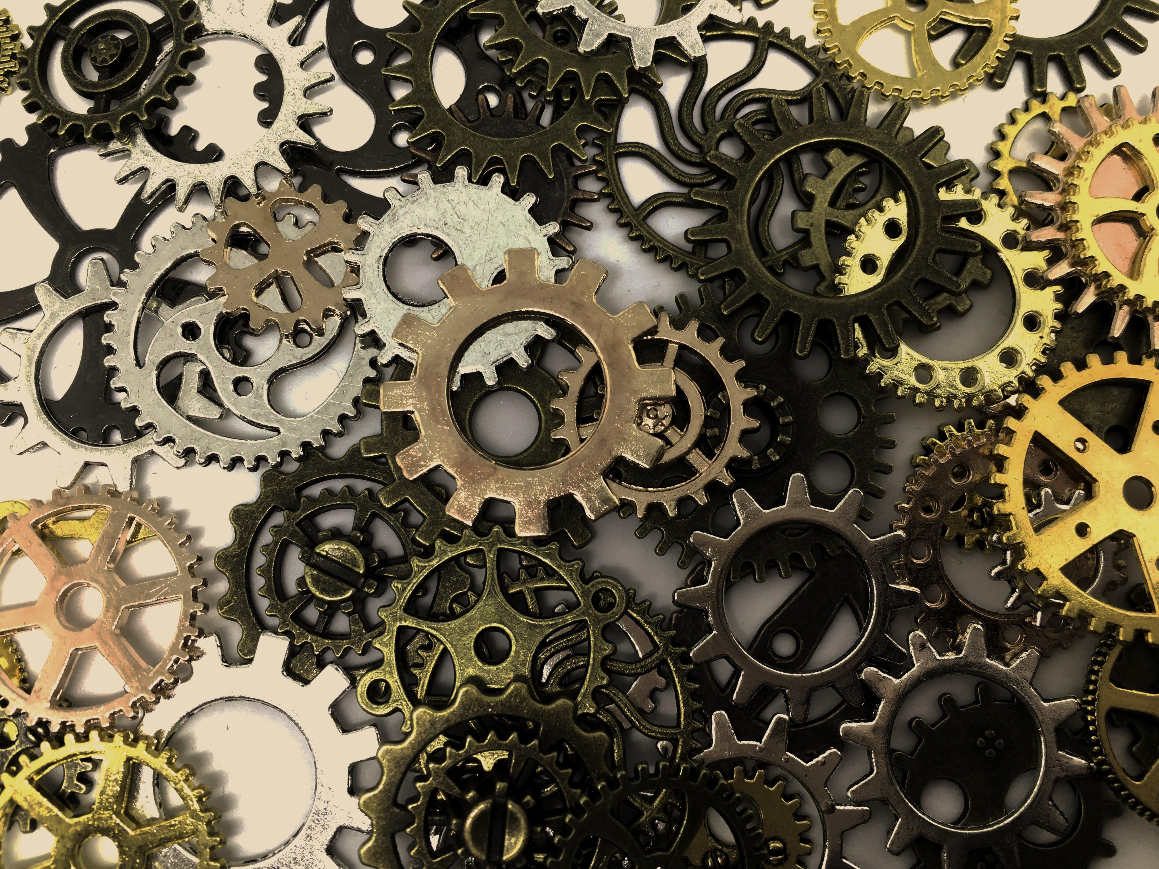 Gratis arkivbilde med design, girskift, gyllen, hjul