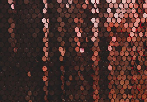 Black and Red Polka Dot Textile