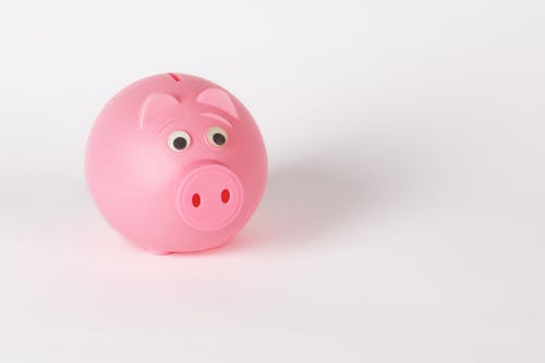 Close-Up Photo of Cute Pink Piggy Bank