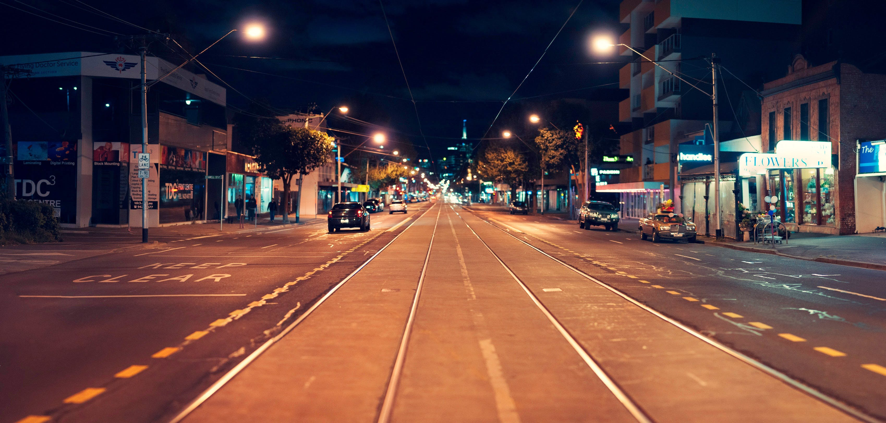 asphalt, buildings, cars