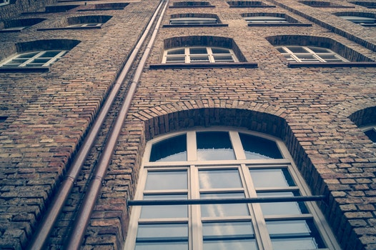 Free stock photo of light, building, bricks, glass
