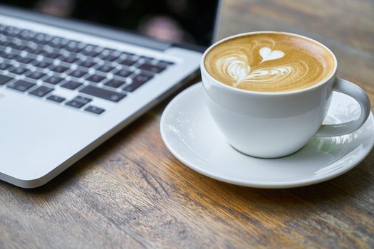 Free stock photo of caffeine, coffee, cup, laptop